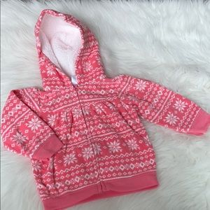 Carter's pink snowflake sweater size 9 months